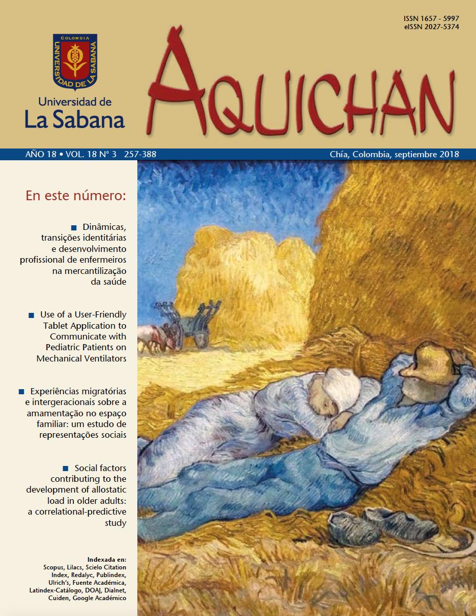 Carátula Aquichan 18(3)